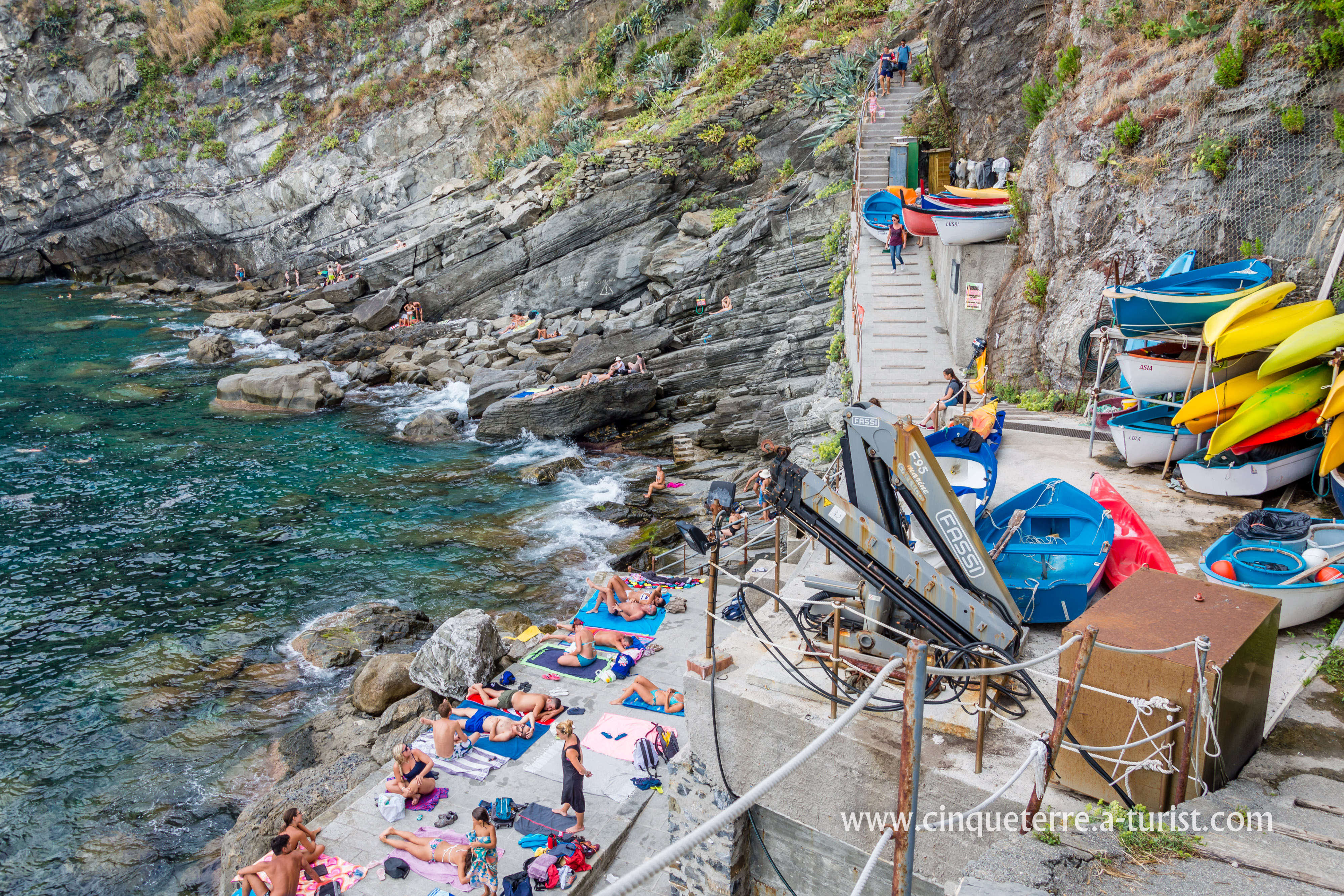 The Beach In Corniglia Cinque Terre Italy
