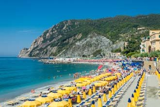 The beach at Monterosso, Cinque Terre, Italy