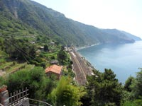Corniglia - Train station, view from Long Stair, 4320x3240, 1.98 MB