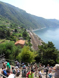 Corniglia - Train station, view from Long Stair, 3240x4320, 2.05 MB
