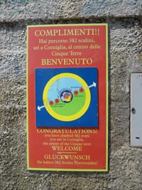 Corniglia - Sign after the Long Stair, 3240x4320, 2.01 MB