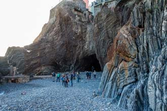 The tunnel between the beach and Vernazza, Cinque Terre, Italy