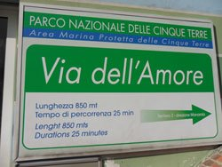 Via dell'amore, Way of Love, Riomaggiore, Cinque Terre